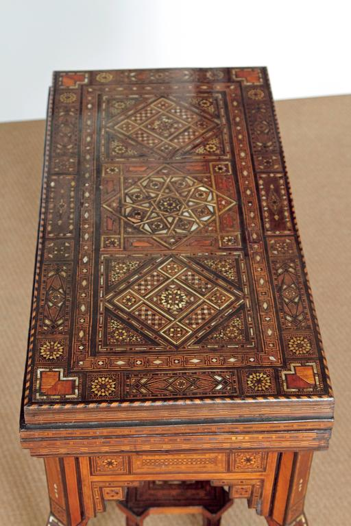 Moorish Antique Syrian Folding Games Table For Sale