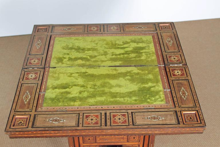 20th Century Antique Syrian Folding Games Table For Sale