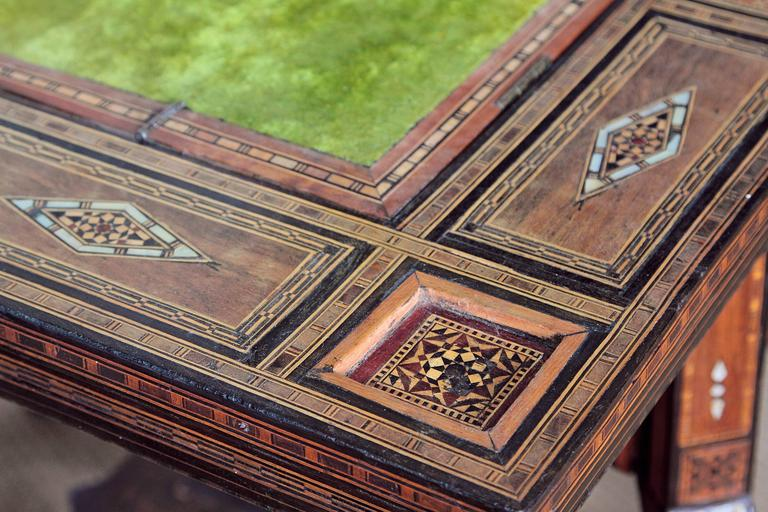 Antique Syrian Folding Games Table For Sale 2