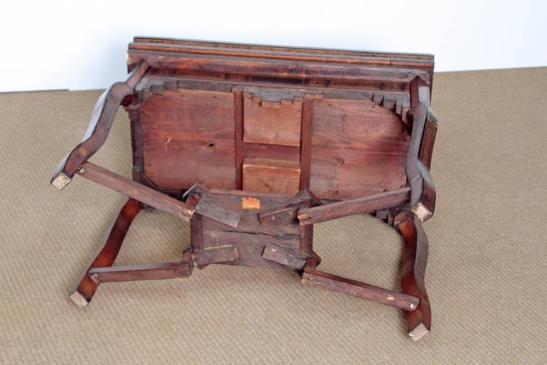 Antique Syrian Folding Games Table For Sale 3