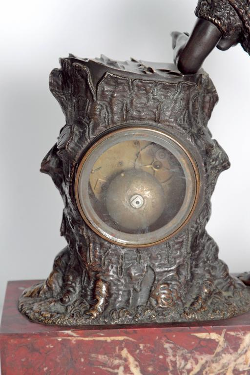 "French Empire Figural Mantel Clock ""Hercule Farnèse"" Attributed to Claude Galle 7"