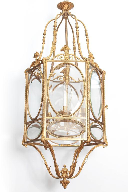 Louis XVI Style Hexagonal Ormolu Lantern 3