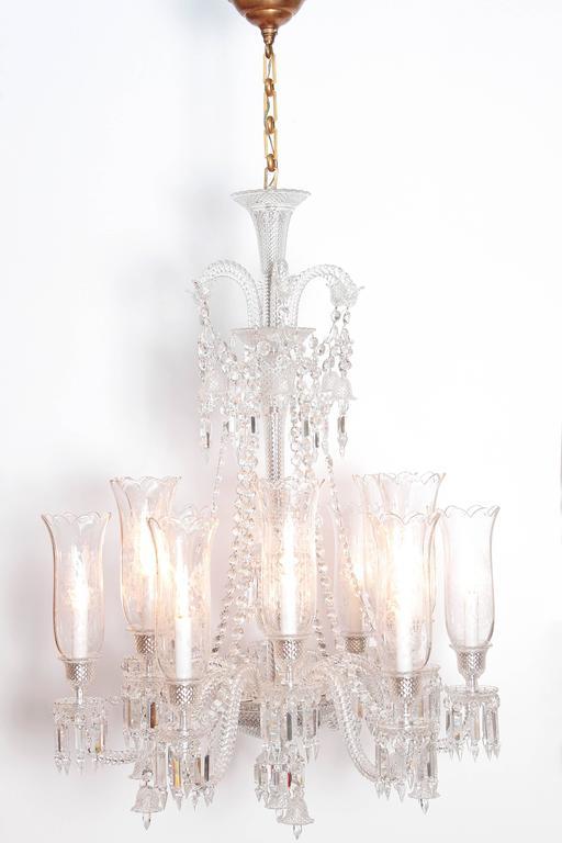 Neoclassical Philippe Starck For Baccarat Zenith Long Twelve Light Chandelier