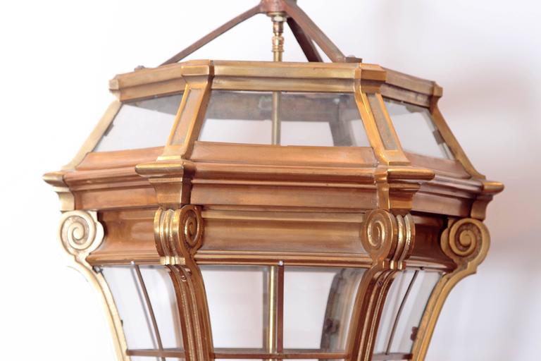 Large Pair of Louis XIV Style Gilded Bronze Lanterns 3