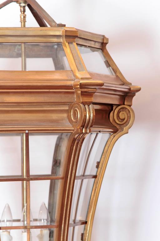 Large Pair of Louis XIV Style Gilded Bronze Lanterns 5