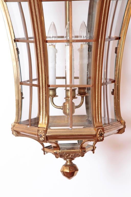 Large Pair of Louis XIV Style Gilded Bronze Lanterns 6
