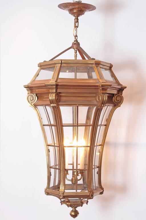 Large Pair of Louis XIV Style Gilded Bronze Lanterns 9