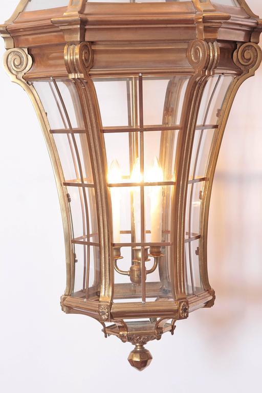 Large Pair of Louis XIV Style Gilded Bronze Lanterns 10