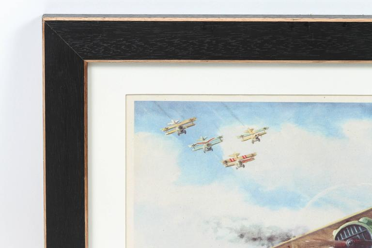 1950s Framed Aviation Prints of Fighter Planes by Charles Hubbell ...