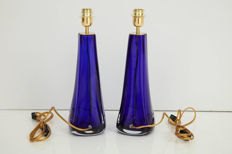 Pair of Italian Cobalt Blue