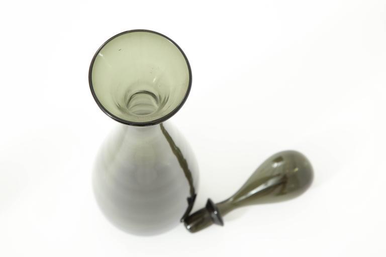 Blenko Glass Bottle, circa 1950 5