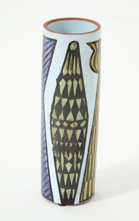 Swedish Ceramic Vase by Stig Lindberg, Sweden, C 1950 For Sale