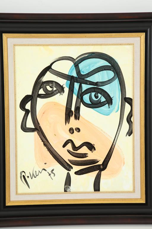 Painting by Peter Keil, circa 1975, Germany. Media is acrylic on board.