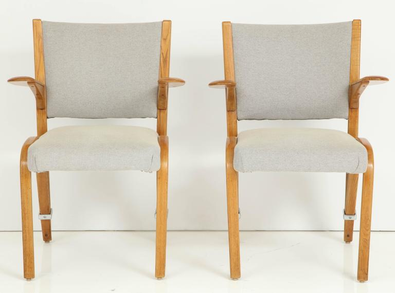 French Rare Pair of 1950s Hugues Steiner Armchairs For Sale
