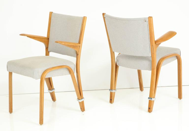 Rare Pair of 1950s Hugues Steiner Armchairs For Sale 3