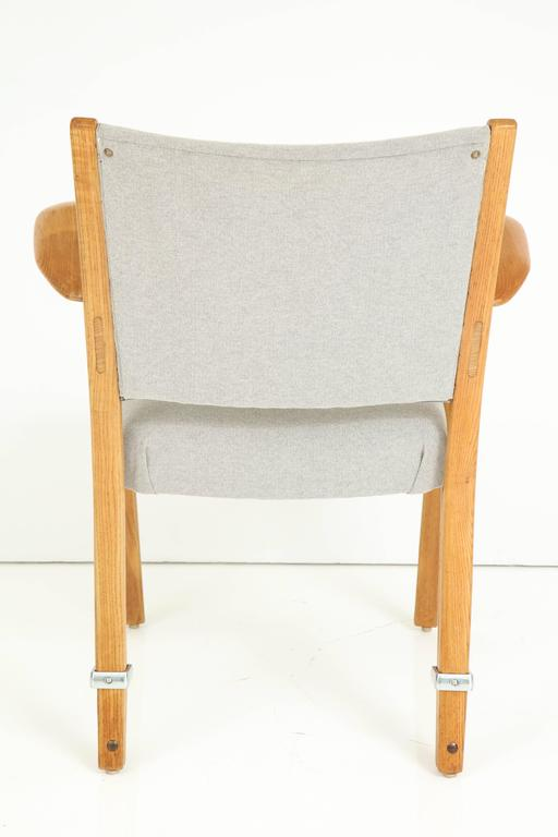Rare Pair of 1950s Hugues Steiner Armchairs For Sale 4