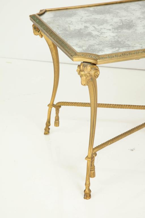 Empire Style 1940s Baguès Bronze Coffee Table For Sale 3
