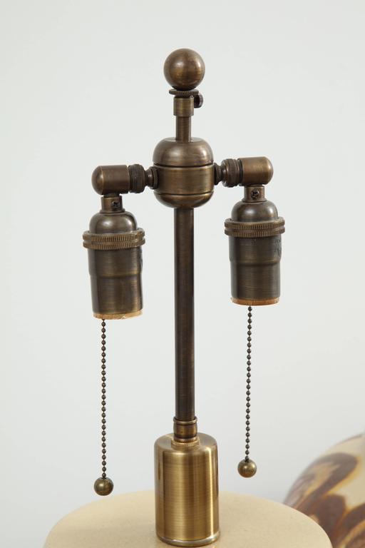 Mid-20th Century Pair of 1960s Ceramic Lamps For Sale