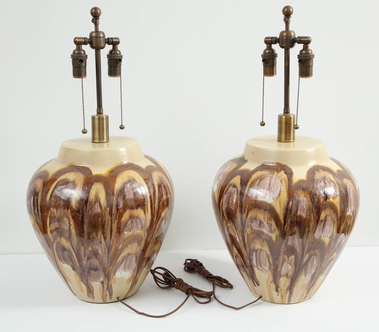 Pair of 1960s Ceramic Lamps For Sale 2