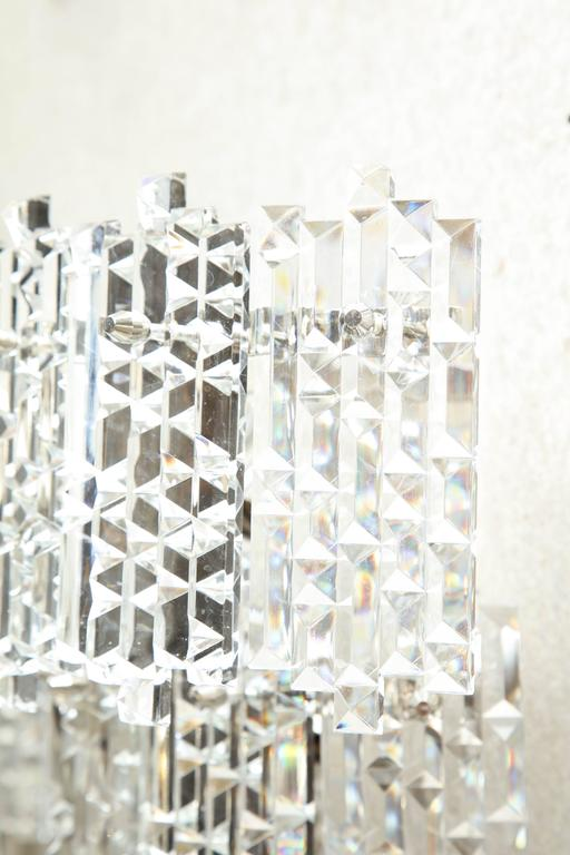 Kinkeldey Geometric Faceted Sconces In Excellent Condition For Sale In New York, NY