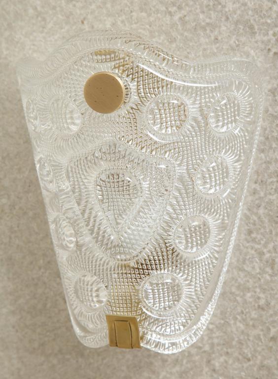 Scandinavian Modern Carl Fagerlund/Orrefors Crystal Sconces For Sale