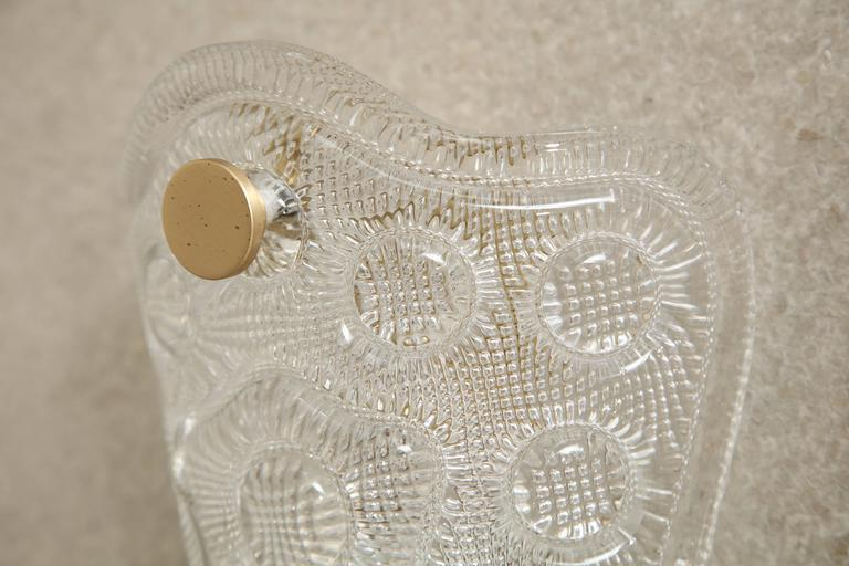 Carl Fagerlund/Orrefors Crystal Sconces In Excellent Condition For Sale In New York, NY