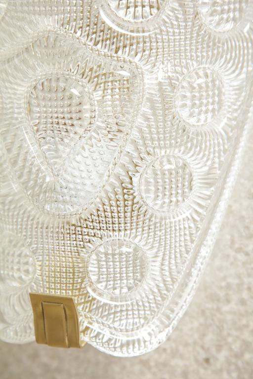 20th Century Carl Fagerlund/Orrefors Crystal Sconces For Sale