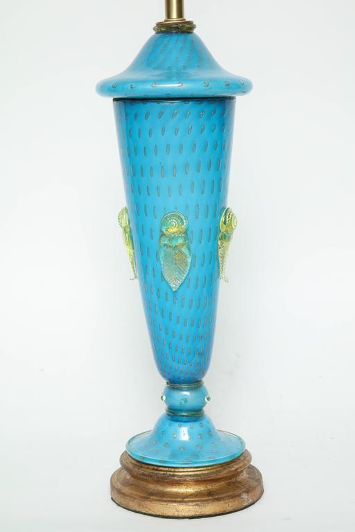 Barovier Tiffany Blue Murano Glass Lamps 2