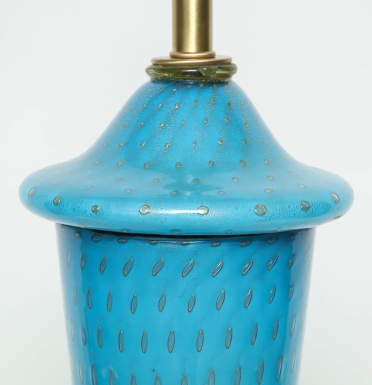 Barovier Tiffany Blue Murano Glass Lamps 5