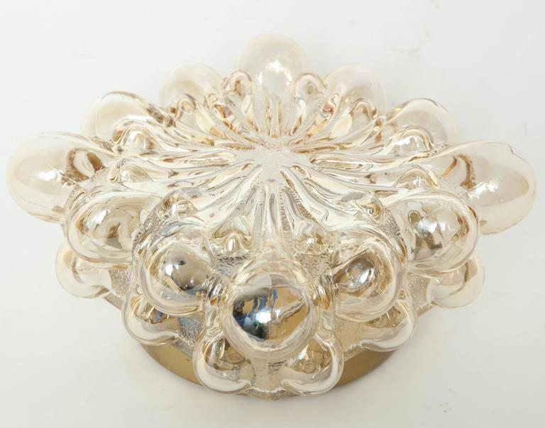 Blown Glass Limburg Champagne Glass Sconces For Sale