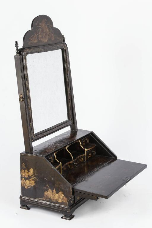 19th Century English Chinoiserie Miniature Desk With