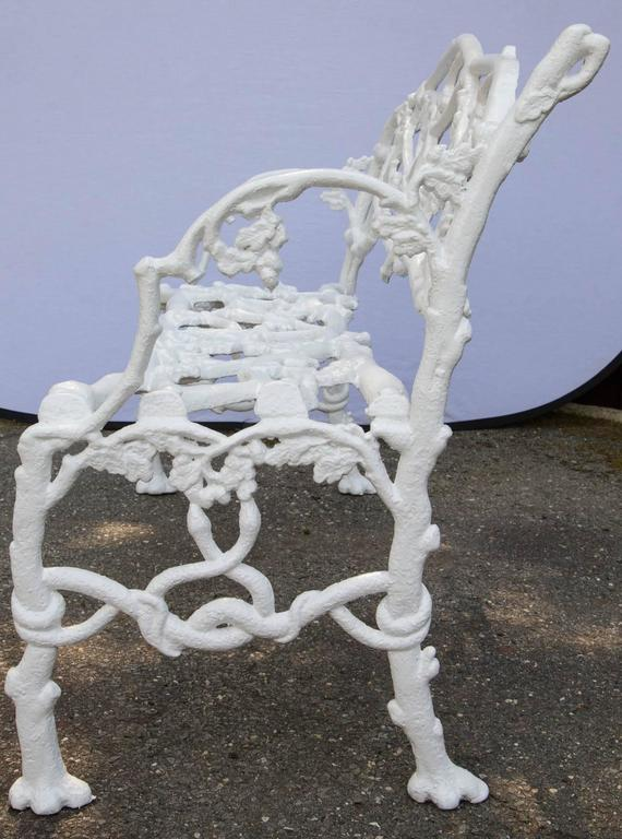 Cast Iron Floral Garden Bench For Sale 2