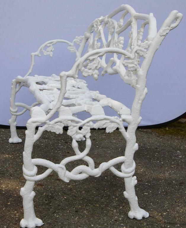 Cast Iron Floral Garden Bench For Sale 3