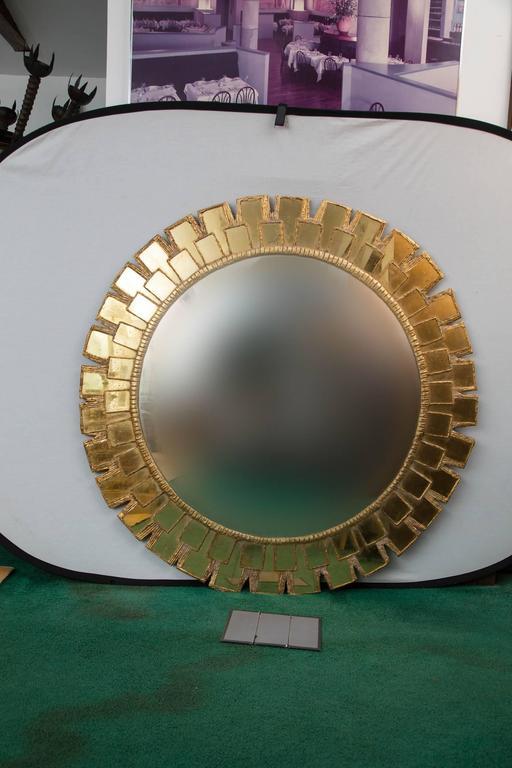 Mid-Century Large Circular Convex Mirror 2