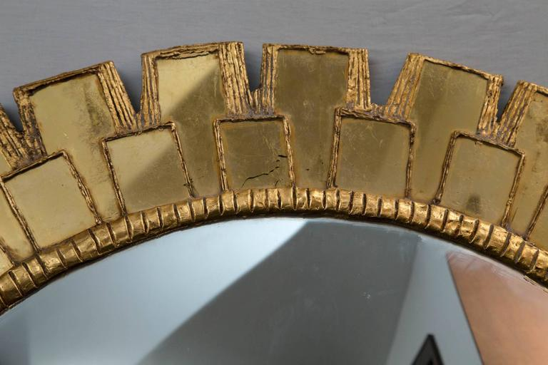 Mid-Century Large Circular Convex Mirror 8