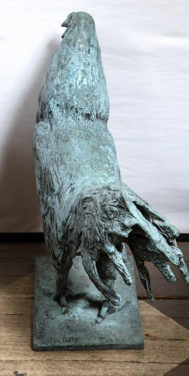 20th Century Bronze Rooster, Signed Carl Pappe For Sale