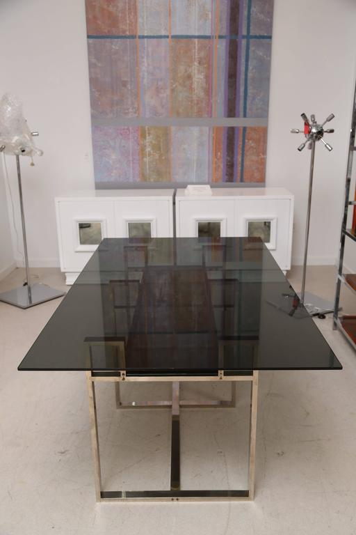 Milo Baughman Chrome Geometric Dining Table 2