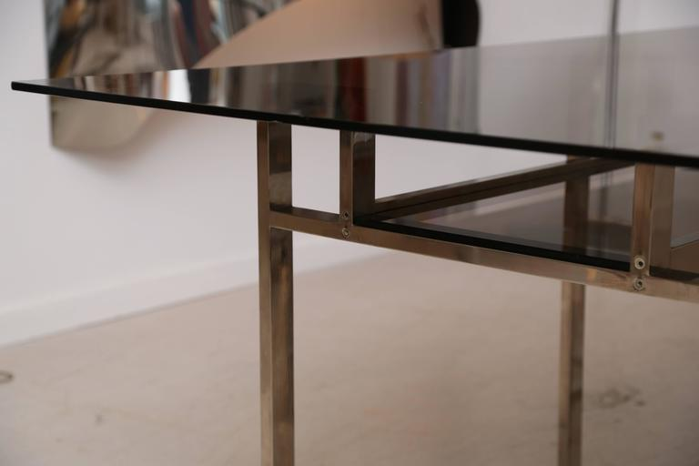 Milo Baughman Chrome Geometric Dining Table 4