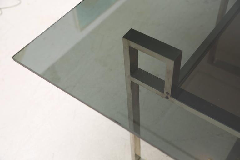 Milo Baughman Chrome Geometric Dining Table 6