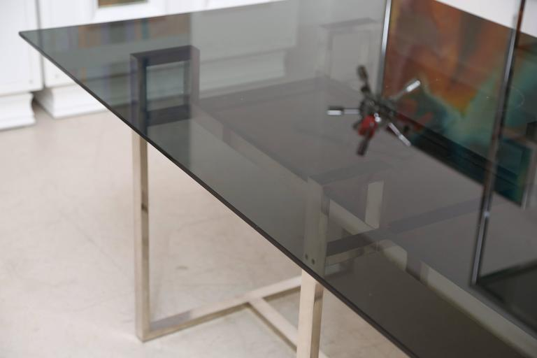 Milo Baughman Chrome Geometric Dining Table 7