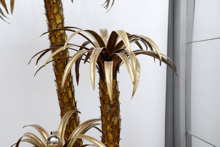 Maison Jansen Brass Palm Trees Floor Lamp 3