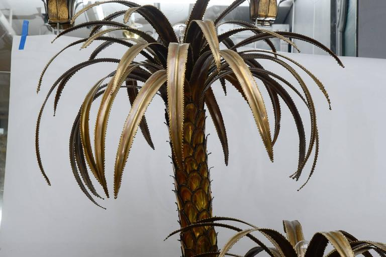 Maison Jansen Brass Palm Trees Floor Lamp 5