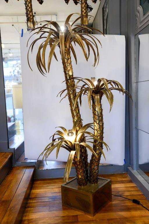 Maison Jansen Brass Palm Trees Floor Lamp 7