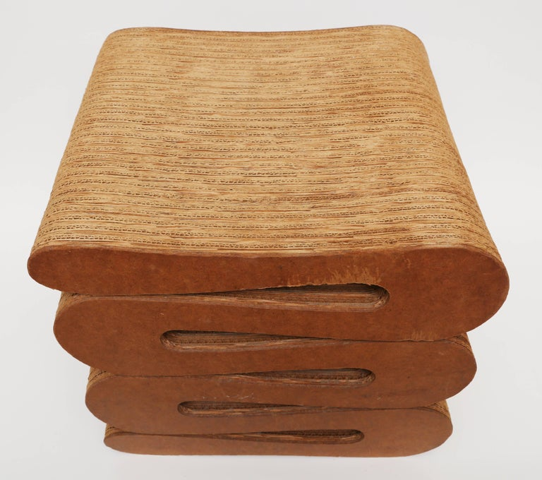 Vintage Frank Gehry Quot Wiggle Stool Quot For Sale At 1stdibs