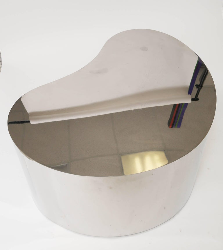 Late 20th Century Karl Springer Steel Free Form Table For Sale