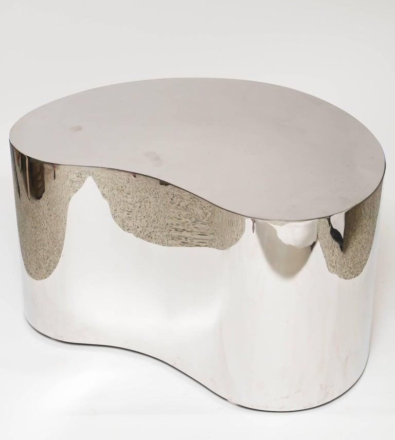 American Karl Springer Steel Free Form Table For Sale