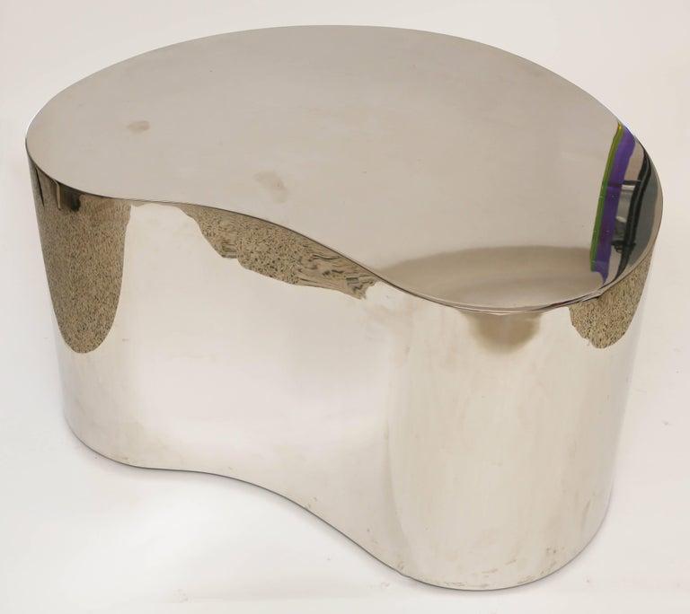 Karl Springer Steel Free Form Table For Sale 1