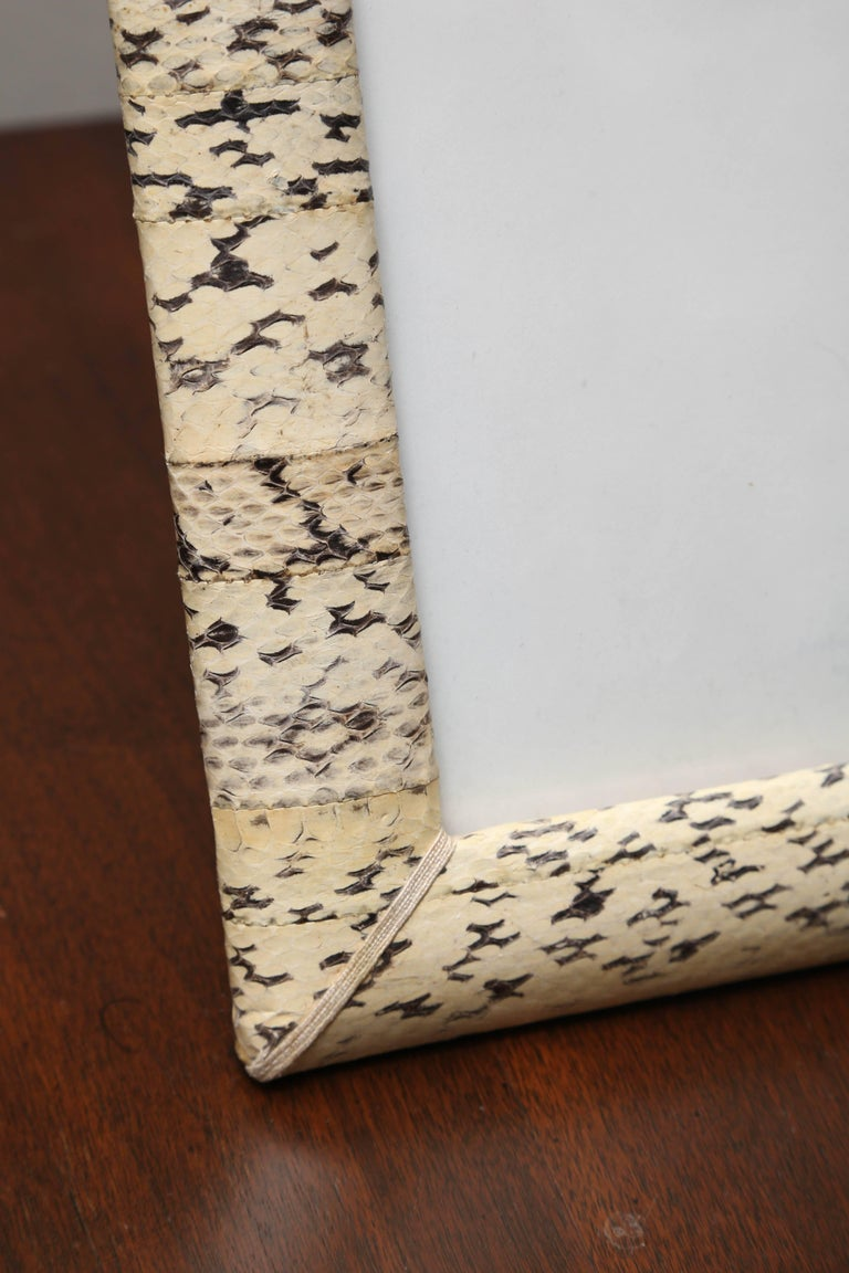Vintage Snakeskin Picture Frame In Good Condition For Sale In West Palm Beach, FL