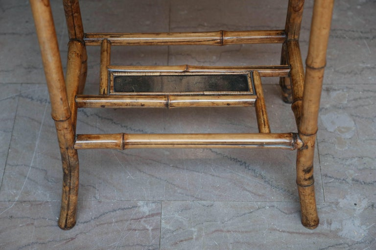 19th Century English Bamboo Table For Sale 2