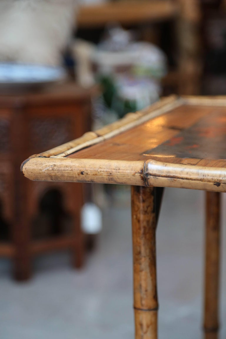 19th Century English Bamboo Table For Sale 5